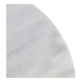 Wit marmeren tafel, diameter 60 cm, hoogte 73 cm_