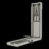Bank inklapbaar, graniet wit, lengte 183 cm, breedte 30 cm, hoogte 43 cm_