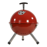 Barbecue tafelmodel kogel, doorsnede: 32cm rood. 4 stuks_