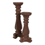 Kaarsenstandaard Lavanda bruin 13x14x30,5cm_