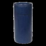 Kaarshouder bamboe blauw doorsnede: 8x16cm. 12 stuks in doos_