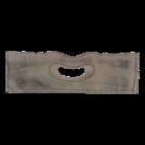 Dienblad Forte bruin 40x24x8cm, set  4 stuks_