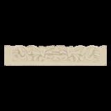 Dienblad Forte creme 40x24x8cm, set  4 stuks_