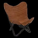Vlinderstoel Billy, bruin_