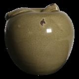 Appel keramiek oud beige 14cm, 4 stuks_
