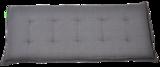 Bankkussen antraciet, lengte 120 cm, breedte 47 cm, dikte 6 cm_