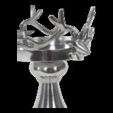 Deco schaal op voet Gaia aluminium met herten decoratie_