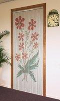 Degor Vliegengordijn aluminium motief bloem rood 90x210 cm