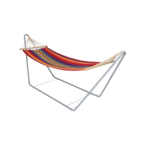 Hangmat in standaard metaal, lengte 300 cm, breedte 80 cm, hoogte 120 cm