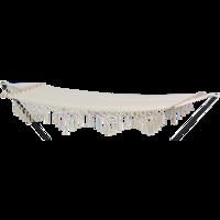 Hangmat Macrame beige, lengte 200 cm, breedte 80 cm