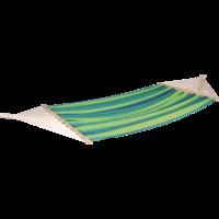 Hangmat, blauw/groen, lengte 220 cm, breedte 120 cm, 6 stuks.