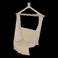 Hangmatstoel Macrame, hoogte 120 cm, breedte 50 cm, lengte 52 cm