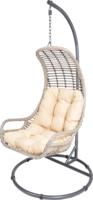 Hangstoel Relax Sandy, bruin/taupe, incl. stalen frame, 103 x 205 cm