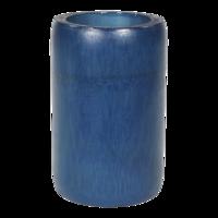 Kaarshouder bamboe blauw doorsnede: 8x13cm. 12 stuks in doos