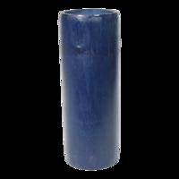 Kaarshouder bamboe blauw doorsnede: 8x20cm, 12 stuks in doos