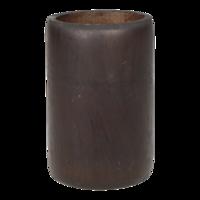 Kaarshouder bamboe grijs doorsnede: 8x13cm. 12 stuks in doos