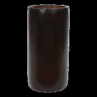 Kaarshouder bamboe grijs doorsnede: 8x16cm. 12 stuks in doos