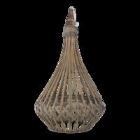 Lantaarn India hout 39x74cm. 2 stuks