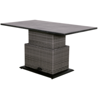 Loungetafel verstelbaar Soho Coal, Easystone blad, 130x75cm