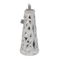 Olielamp Diferente, maat: 15x34 cm, naturel cement.