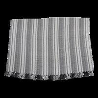 Plaid 3 Stripes, grijs/zwart/wit, 125x150 cm. 4 stuks