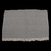 Plaid beige/zwart, 125x150 cm. 4 stuks