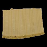 Plaid linnen, geel, 125x150 cm. 4 stuks