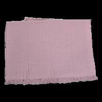 Plaid linnen, roze, 125x150 cm, set  4 stuks