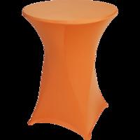 Statafel tafelrok oranje, maat 80 cm doorsnede