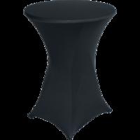 Statafel tafelrok zwart, maat 80 cm doorsnede
