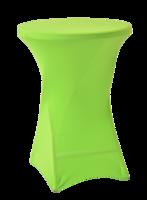 Statafelrok voor statafel, diameter 80 tot 85 cm, lime groen