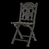 Bistro tuinset Siena, brons/groen, de metalenset bestaat uit een tafel en twee (klap)stoelen