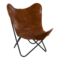 Vlinderstoel Buffalo, bruin