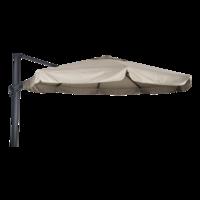 Zweefparasol Virgo, antraciet aluminium, diameter 350 cm, frame/ecru doek met molen