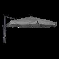 Zweefparasol Virgo, antraciet aluminium, diameter 350 cm, frame/grijs doek met molen