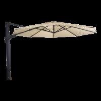 Zweefparasol VirgoFlex ecru, kantelbaar, diameter 350 cm