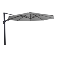 Zweefparasol VirgoFlex grijs, kantelbaar, diameter 350 cm