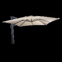 Zweefparasol VirgoFlex met kantelfunctie ecru, lengte 3 meter, breedte 3 meter