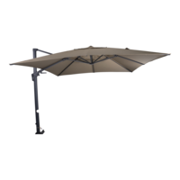 Zweefparasol VirgoFlex met kantelfunctie, taupe, lengte 3 meter, breedte 3 meter.