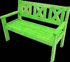 2-Persoons bank Luton groen, lengte 129 cm, diepte 64 cm, hoogte 90 cm