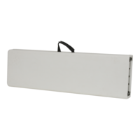 Bank inklapbaar, graniet wit, lengte 183 cm, breedte 30 cm, hoogte 43 cm