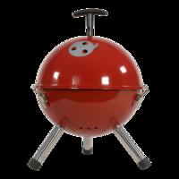 Barbecue tafelmodel kogel, doorsnede: 32cm rood. 4 stuks