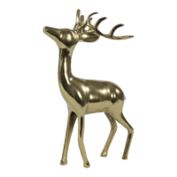 Beeld staand Hert aluminium goud 28x13x41 cm