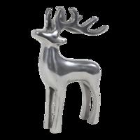 Beeld staand Hert aluminium, 13x8x20 cm