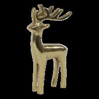 Beeld staand Hert aluminium goud 13x8x20 cm