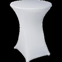 Statafel tafelrok wit, maat 80 cm doorsnede