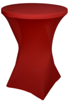 Statafelrok voor statafel, 80 tot 85 cm, rood
