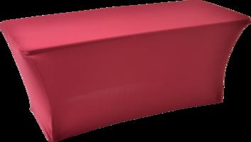 Tafelhoes party/buffettafel bordeaux, rechthoek 180x76x74 cm