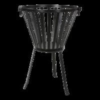 Vuurkorf zwart metaal. maat: 38x58 cm. set  4 stuks