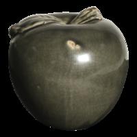 Appel keramiek oud zwart 17cm